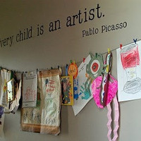 Every Child is an Artist by Pablo Picasso Vinyl Wall Decal Lettering Sticker