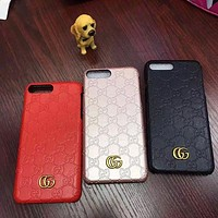 Gucci Fashion Personality Leather iPhone Phone Cover Case For iphone X XR XS XS MAX 6 6s 6plus 6s-plus 7 7plus 8 8plus