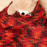 Wool wrap / Hand Knit Wool Blanket   Colored Bulky Blanket    Newborn Photography Prop / Knit Baby Wrap /