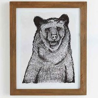 4040 Locust Sketched Grizzly Framed Art Print