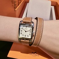 Hermes Fashion Quartz Classic mechanical watch diamond men and women waterproof quartz watch