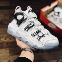 Nike Air More Uptempo white Basketball shoe Size 40-46
