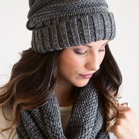 Don't Slouch Grey Beanie