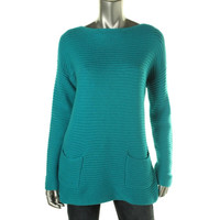 Vince Camuto Womens Knit Dolman Sleeves Pullover Sweater