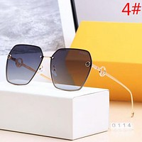 Fendi Fashion New Polarized Glasses Sunscreen Leisure Glasses Eyeglasses Women