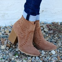 Whats The Stitch Bootie, Taupe