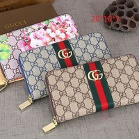 GUCCI Women Fashion Leather Fashion Print Purse Wallet