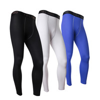White Mens Compression Pants Gym Men Fitness Sports Running Leggings Sport Tights Dry Fit Training Compression Running Pants Gym
