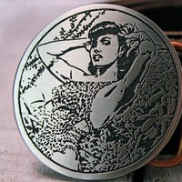Bettie Page PIN UP GIRL Belt Buckle