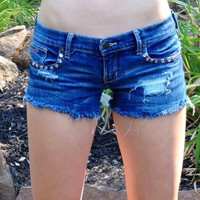 Rhinestone cutoff denim Hollister Cutoffs