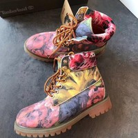 """Timberland"" Boos With Upper Leather Graffiti"