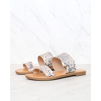 Harmony Double Strap Python Animal Print Sandals