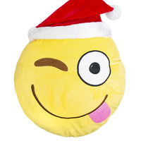 SANTA EMOJI PILLOW