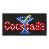 Cocktail Neon Lights LED Animated Customers Attractive Sign    220V