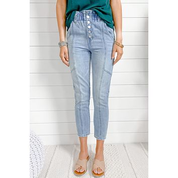 It's Lined Up Relaxed Fit Paper Bag Jeans