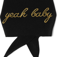 Saint Laurent - Yeah Baby embroidered silk crepe de chine cuff