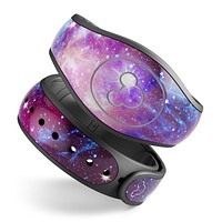 Bright Trippy Space - Decal Skin Wrap Kit for the Disney Magic Band