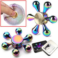 Sturdy Metal Hand Fidget Spinner Toy for Stress Relief and Focus