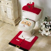 Santa Toilet Seat Cover and Rug Set:Amazon:Everything Else