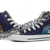 Dr Who Custom Converse / Tardis & Dalek / Painted Shoes