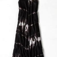 AEO Women's Flowy Printed Maxi Dress (Black)