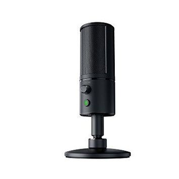 Razer Seiren X - Professional-Grade High-Definition Studio Sound USB Digital Condenser Microphone - Optimized for Streaming Twitch/Youtube - Built-In Shock Mount