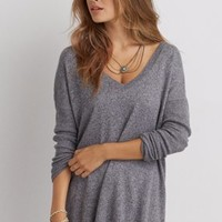 AEO Henley Pullover Sweater , Green   American Eagle Outfitters