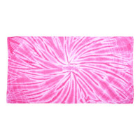 Tie-Dyed - Cyclone Beach Towel-Pink