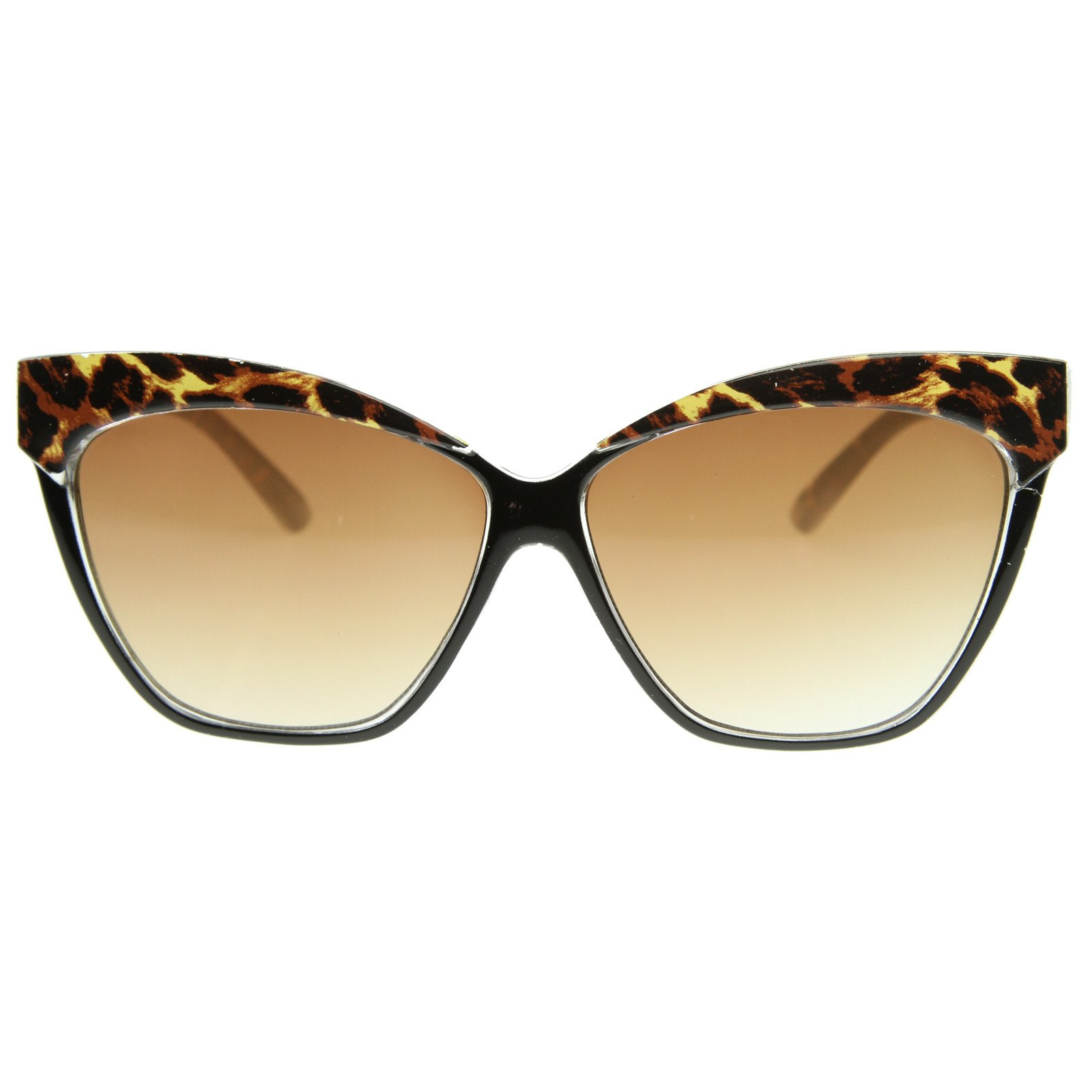 Image of High Brow Oversize Cat Eye Pointed Tip Fashion Sunglasses 8521