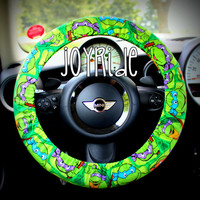 Steering Wheel Cover Teenage Mutant Ninja Turtles TMNT Cartoon Retro Throwback