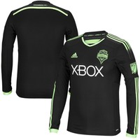 adidas Seattle Sounders FC Black 2015 Long Sleeve Third Authentic Jersey