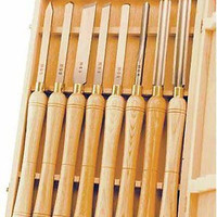 Wood Lathe Chisel Set Woodworking Turning Tools Piece High Speed Chisels