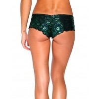 Mermaid Scrunch Back Micro Shorts