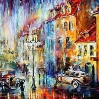"""LONG DAY — Palette Knife Oil Painting On Canvas By Leonid Afremov 48""""x36"""""""