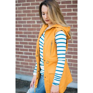 The Right Direction Vest- Mustard
