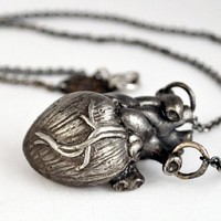 Heart necklace by Lillian Crowe