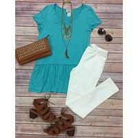 The Rest is History Ruffle Top: Mint