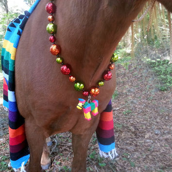 Pinata Necklace for Horses - Mexican Equine Necklace - Mexican Horse Costume - Day of the Dead Equine Costume