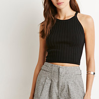 Houndstooth Waist-Tab Shorts