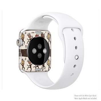 The Dancing Aztec Masked Cave-Men Full-Body Skin Kit for the Apple Watch