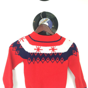 Funky Vintage Children's Retro Groovy Christmas Sweater From The 1970's // JCPenny // Kids Clothing