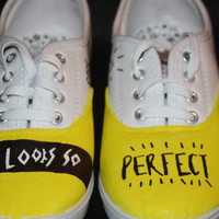 5 Seconds of Summer She Looks So Perfect Cover Inspired Custom Hand Painted Lace Up Shoes