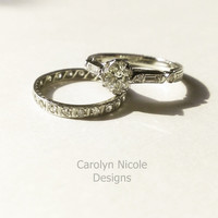 Antique Engagement Ring by Carolyn Nicole Designs