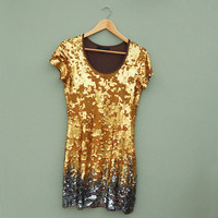 Gold and Silver Sequin Dress by Sugarhill Boutique. was £30