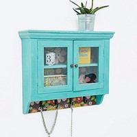 Kare Wall Cabinet in Blue - Urban Outfitters