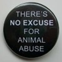 Action for Animals::Buttons::There's No Excuse for Animal Abuse (1 1/4 inch) - Button