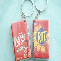 snack boxes keychain