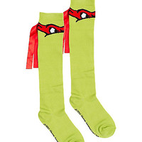 Teenage Mutant Ninja Turtles Raphael Knee Socks - Spirithalloween.com