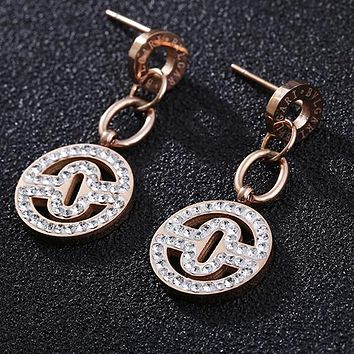 Bvlgari Newest Fashion Women Chic Shiny Diamond Earrings Jewelry Accessories