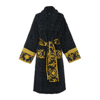 Buy Versace Home Barocco&Robe Bathrobe - Blue | Amara